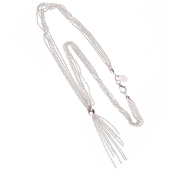 Ariana Sterling Silver Tassel Necklace