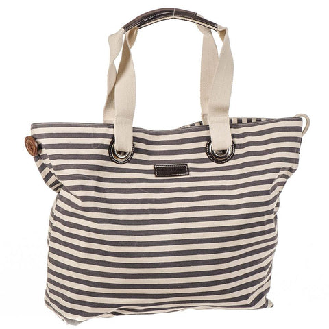 Nautical Navy and Cream Beach Bag rWdPXto