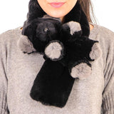 Black Rex Rabbit 'Bear' Collar