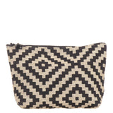 Black and Beige Cotton Make Up Bag