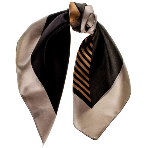 Geometric Military  Silk Scarf