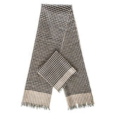 Black and Biscuit Check Superfine Cashmere Cravat Scarf Set