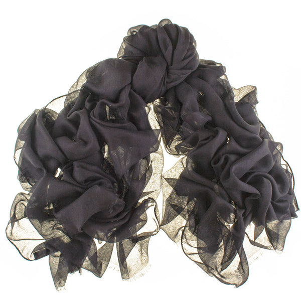 Sable Black Modal and Cashmere Shawl
