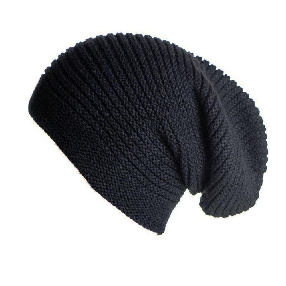Black Cashmere Slouch Beanie Hat – Black.co.uk 64a7f4ee7cdf