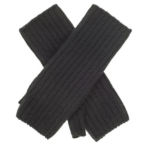 Black Mid Length Cashmere Wrist Warmers