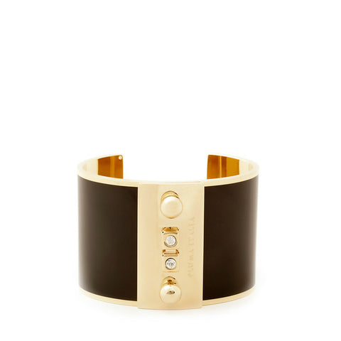 Black Enamel and Rose Gold Cuff