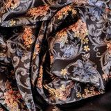 Omodeo Double Faced Wool and Silk Satin Scarf