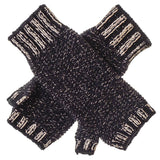 Black and Gold Cashmere Wrist Warmers