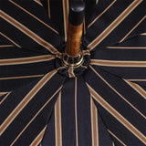 Black and Sand Striped Luxury Umbrella