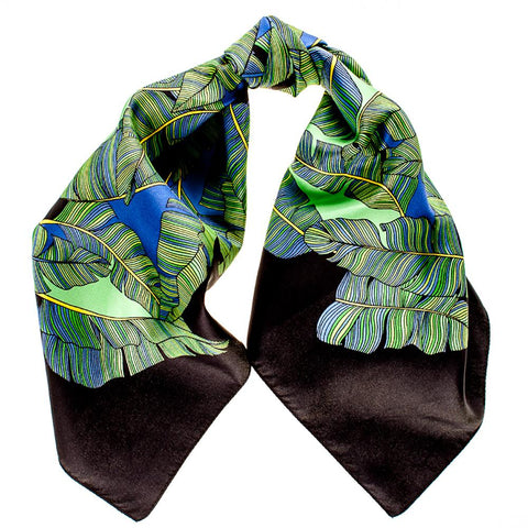 Floating Leaves Silk Scarf