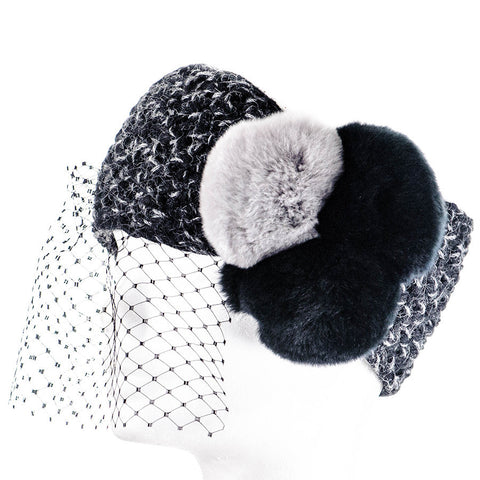 Fayetta Baby Alpaca and Fur PomPom Headband
