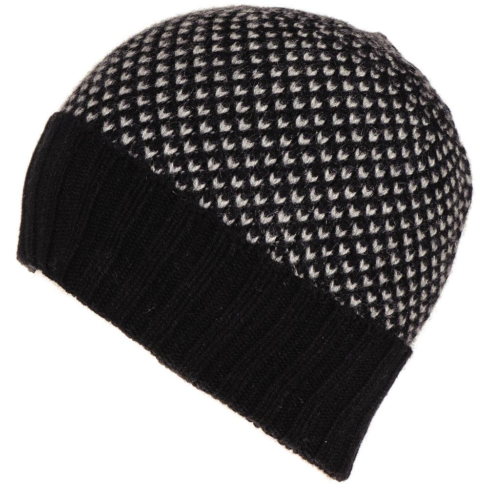 Black and Grey Cashmere Beanie – Black.co.uk 660c89e0579