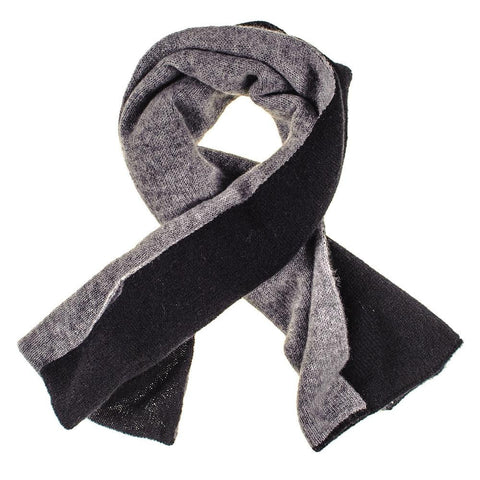 Black and Grey Double Faced Cashmere Neck Warmer