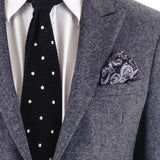 Nera Paisley Silk Pocket Square