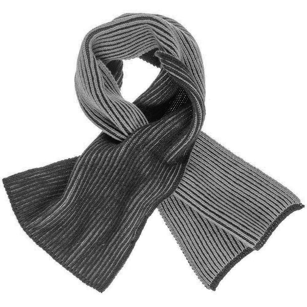 Black and Grey  Reversible Cashmere Neck Warmer