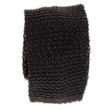 Black Italian Knitted Silk Tie