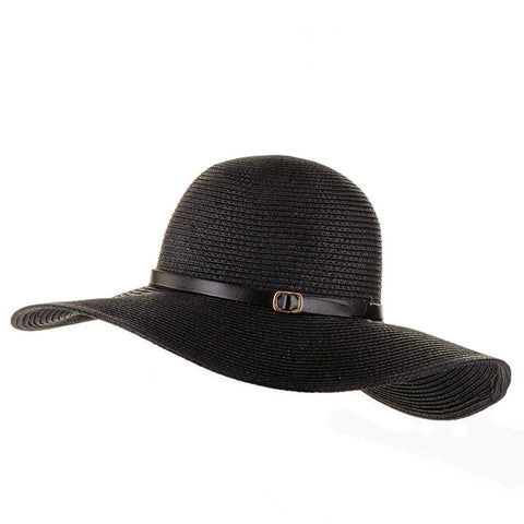 Black Wide Brim Sun Hat