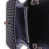 Black Lacquer Deerskin Shoulder Bag