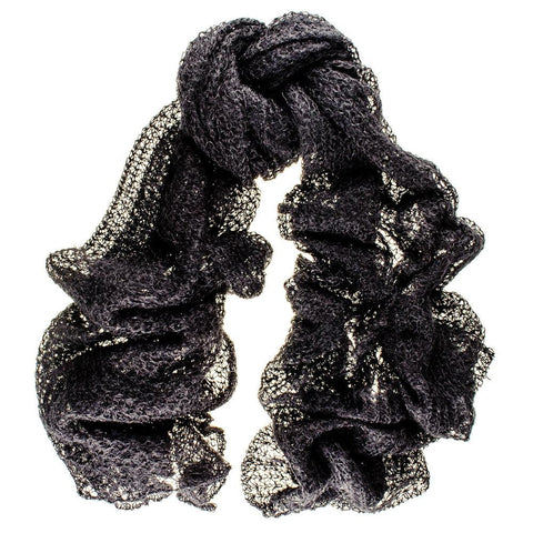 Black Kid Mohair Scarf