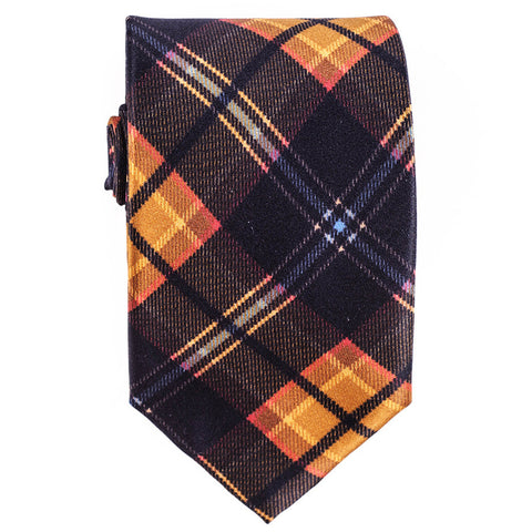 Atrani Black Check Silk Tie
