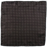 Black and White Polka Dot Silk Pocket Square
