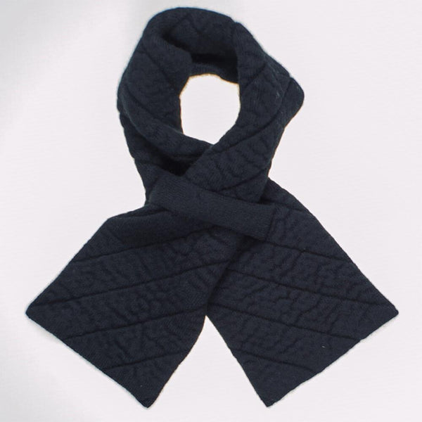 Black Quilted Cashmere Scarf