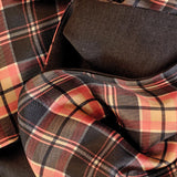 Black and Red Check Silk Scarf