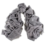 Prince of Wales Check Cashmere Ring Shawl