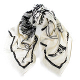 Masami Heraldic Wool and Silk Square Scarf