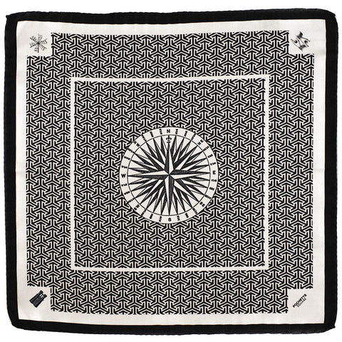 'The Right Direction' Italian Silk Pocket Square