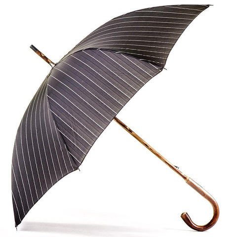 Black and White Pin Stripe Luxury Umbrella