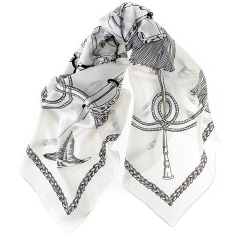 Suzu Japanese Silk Twill Square Scarf