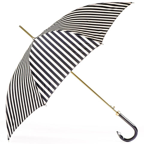 Black and White Striped Italian Luxury Umbrella