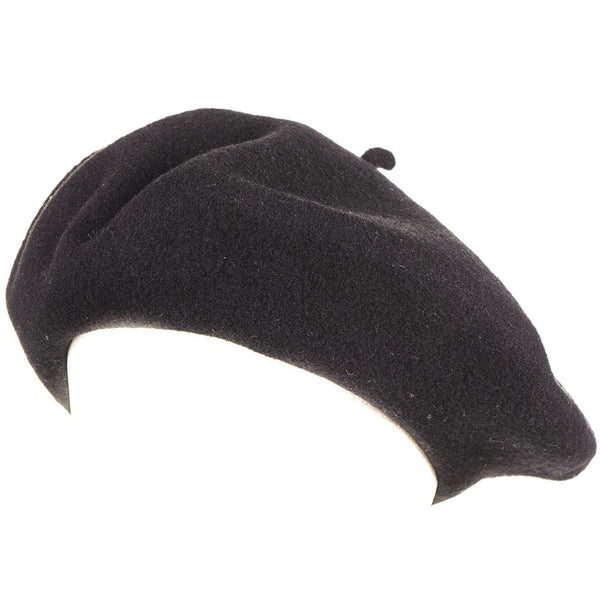 Black French Wool Beret