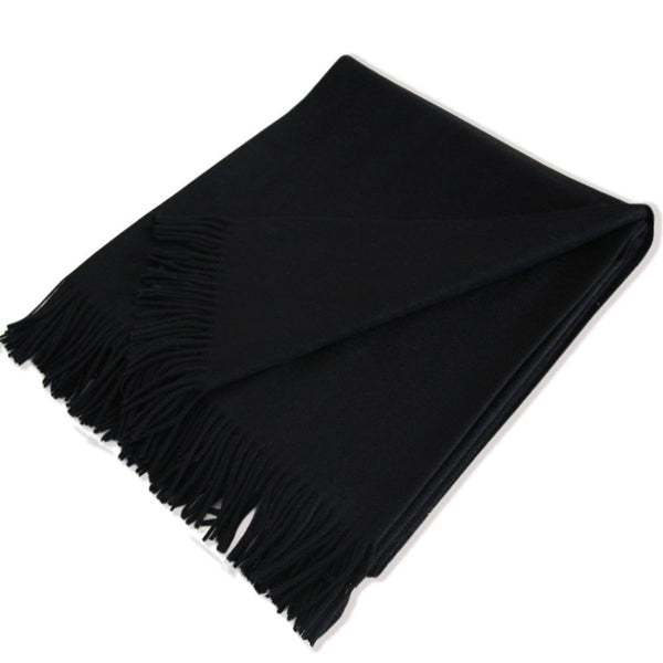 Classic Black Cashmere Throw