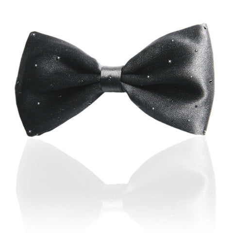 Black Swarovski Crystal Studded Bow Tie
