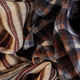 Conzo Check and Stripe Italian Wool Scarf