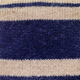 Blue and Biscuit Striped Knitted Cashmere Tie