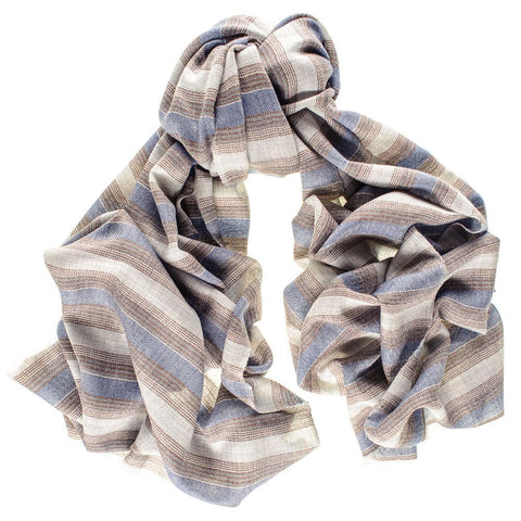 Cavendish Stripe Merino and Silk Scarf