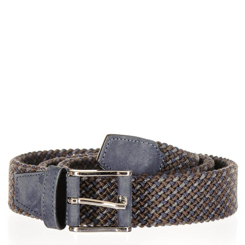Triple Tone Italian Nubuck Leather Woven Belt