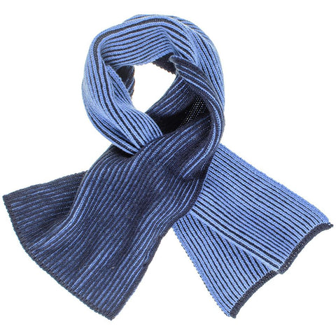 Two Tone Blue Reversible Cashmere Neck Warmer