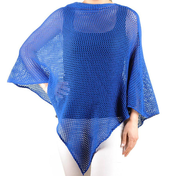 Cobalt Blue Soft Cotton Poncho