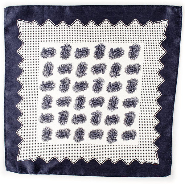 Ostuni Italian Silk and Linen Pocket Square