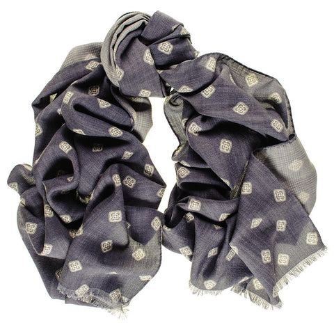 Bernini Reversible Wool and Silk Scarf