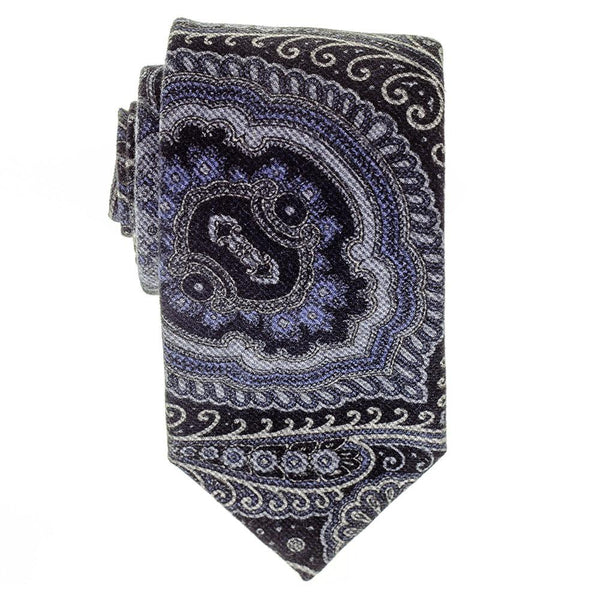 Cecita Navy and Blue  Italian Cotton Tie