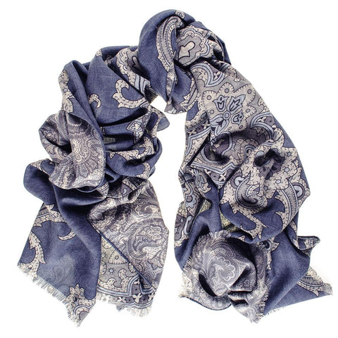 Cellini Reversible Wool and Silk Scarf