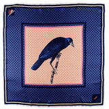 'Shrew and Raven' Italian Silk Square Scarf