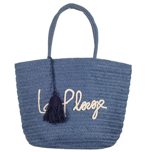 Menton Blue 'La Plage' Beach Bag