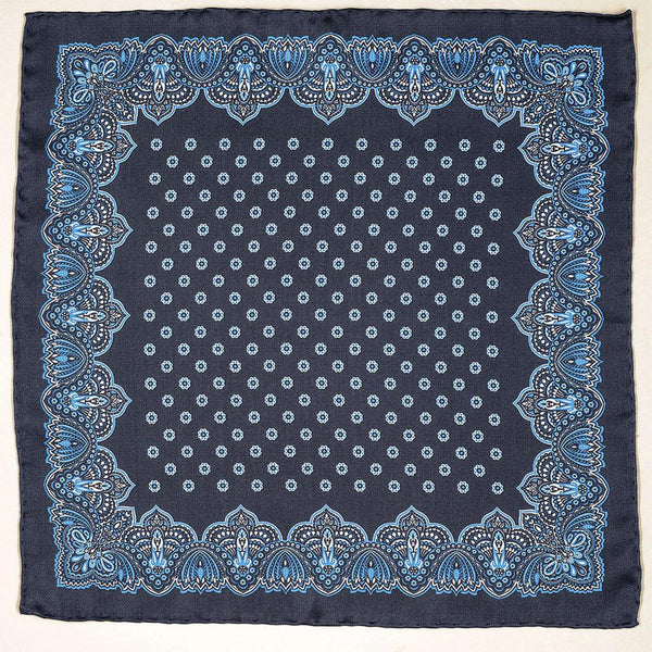 Murtia Italian Silk Pocket Square