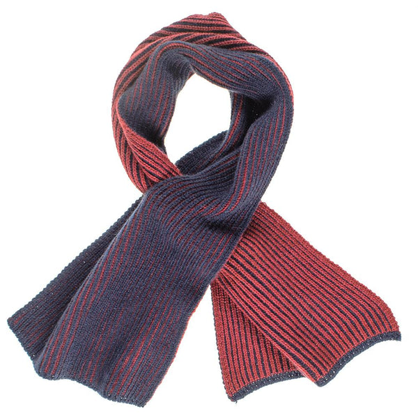 Navy and Burgundy Reversible Cashmere Neck Warmer